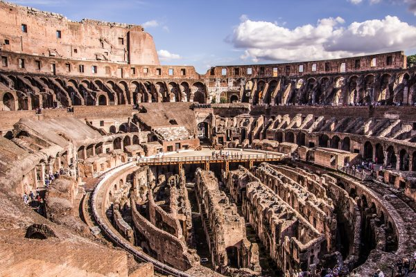 Inside the Colosseum Rome - Viaje a Italia